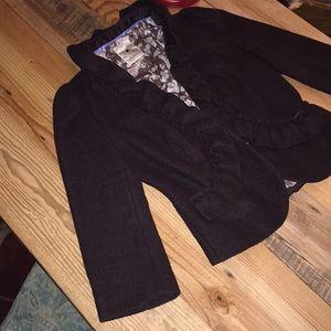 Anthro Elevenses s 6 wool blend brown blazer CUTE